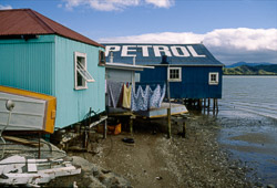 Buildings at Rawene, Hokianga Harbour, 1986