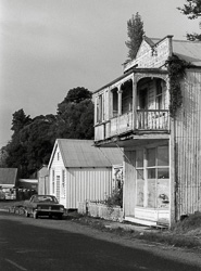Shop with verandah, Kohukohu, 1986